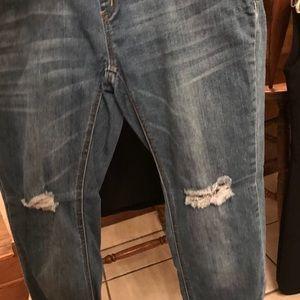 Denim - Bundle of maturity jean and skirt